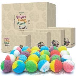 24 Organic  Natural Bath Bombs, Handmade Bubble Bath Bomb Gi