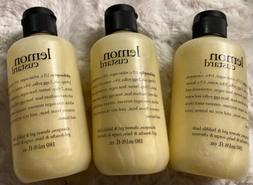 3 NEW Philosophy LEMON CUSTARD Shampoo Shower Gel Bubble Bat