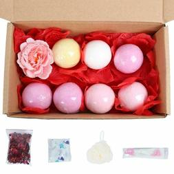 7pcs/set Fizzy Bath Bombs Gift Set Bubble Bath Salts Essenti