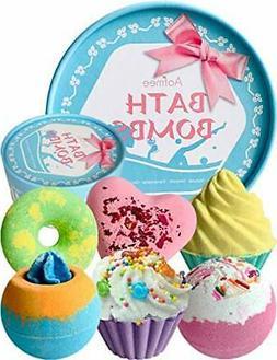 Aofmee Bath Bombs Gift Set, Handmade Bubble and Floating Fiz