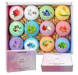 Bath Bombs Gift Set,Handmade Bubble Bath Bomb with Essential