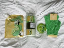 Bath Lot Exfoliating Gloves, Loofah, Shower Gel, Body Lotion