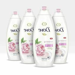 Dove Body Wash Renewing Cleanser Peony & Rose Oil 4 Count -
