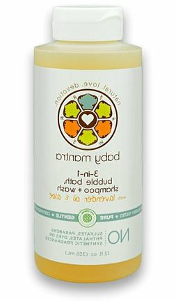 Baby Mantra 3-in-1 Bubble Bath, Shampoo and Body Wash made w