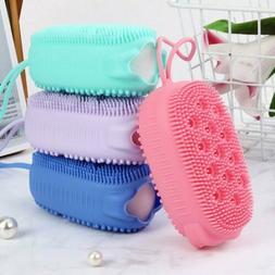 Bubble Silicone Bath Double-sided Scrubbing Soft Massage Bru