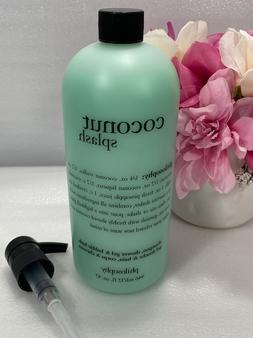 PHILOSOPHY COCONUT SPLASH SHAMPOO SHOWER GEL & BUBBLE BATH 3