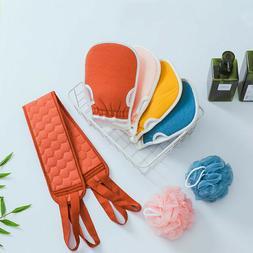 Exfoliating Shower Gloves Body Scrub Sponge Bath Bubble Ball