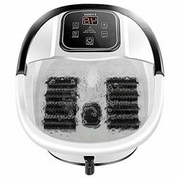 Foot Spa Bath Massager with Heat, Bubble Jets and 8 Removabl