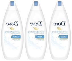 3 Pack Dove Gentle Exfoliating Nourishing Soft Cleansing Sho