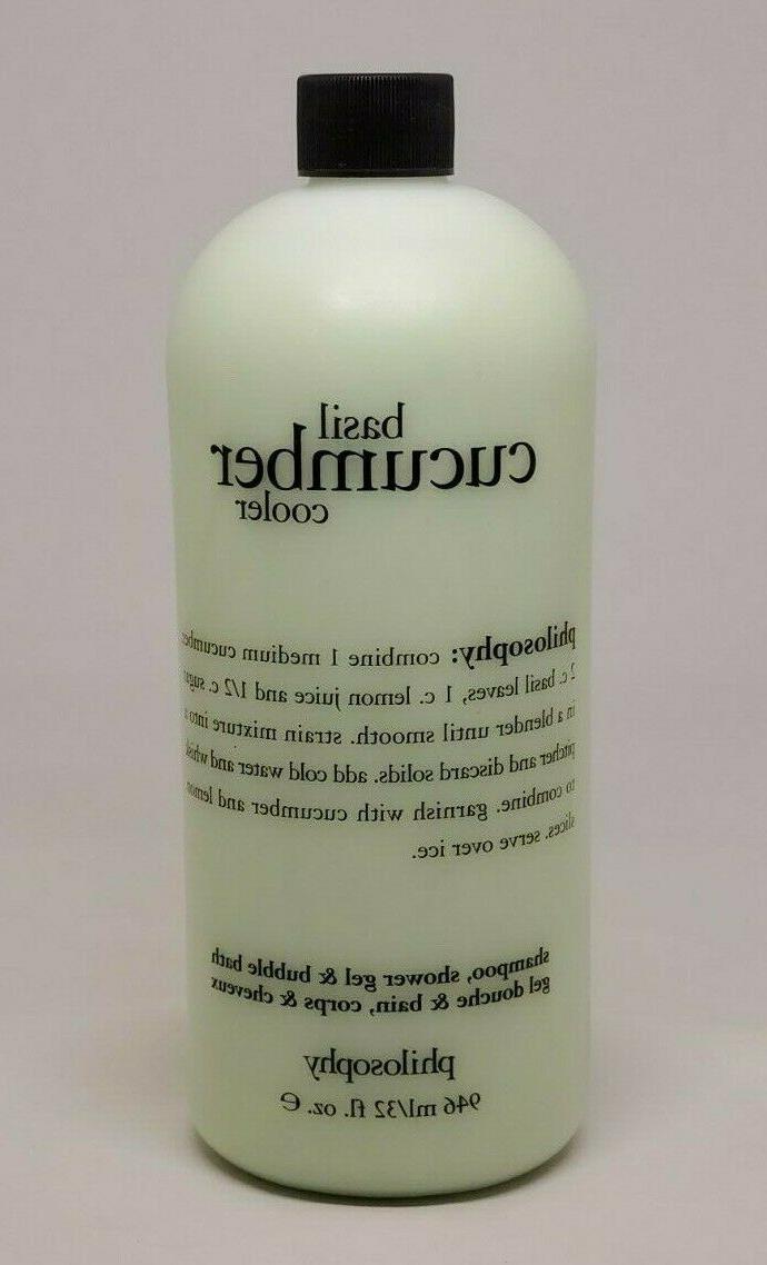 basil cucumber cooler shampoo bubble bath shower
