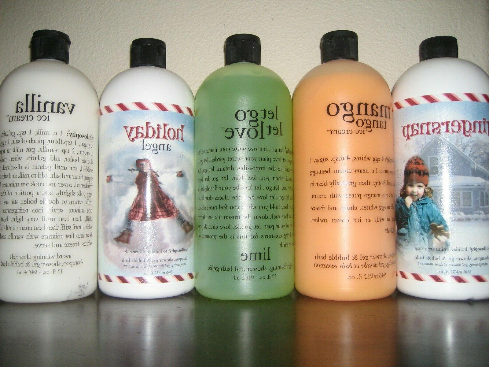 large and new brand shower gels shampoos