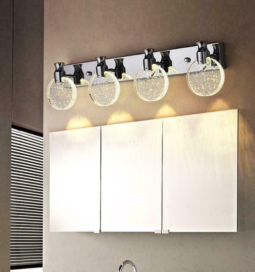 led bubble crystal chrome lamp bathroom vanity