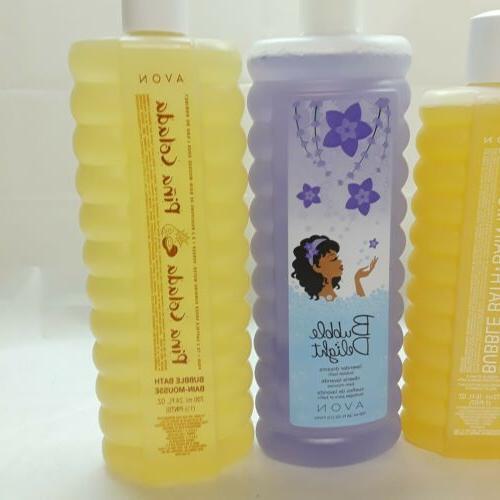 Lot Bubble Baths 16 oz Honey Vanilla Lavender Peony
