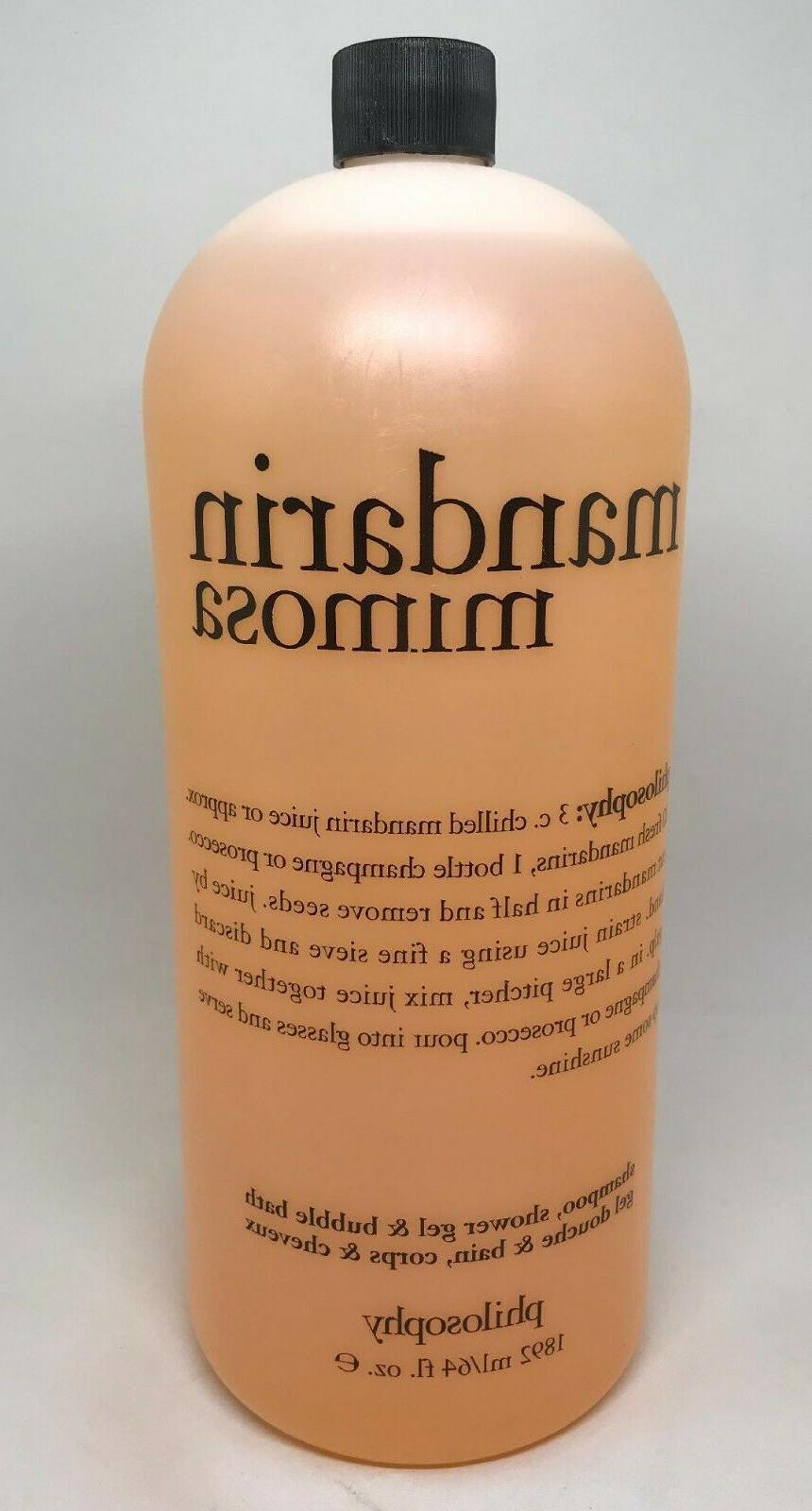 mandarin mimosa shampoo bubble bath shower gel