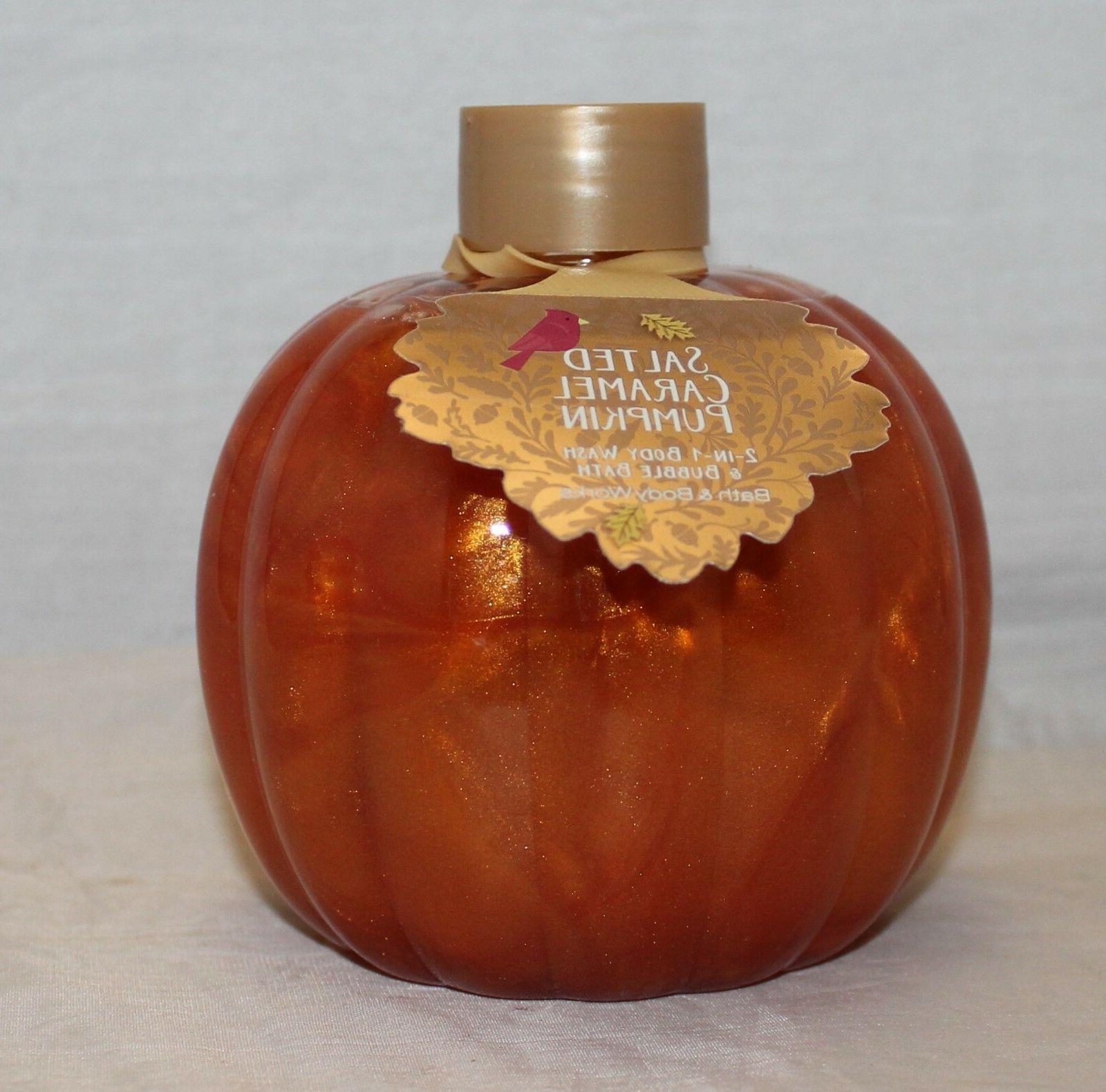 salted caramel pumpkin wash bubble