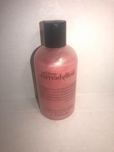 sparkling hollyberries shampoo shower gel and bubble