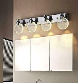 LED Bubble Crystal Chrome Lamp Bathroom Vanity Lighting Mirr