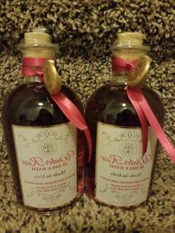 LOT OF 2 ERBARIO TOSCANO BUBBLE BATHs WINTER ROSE GLASS BOTT