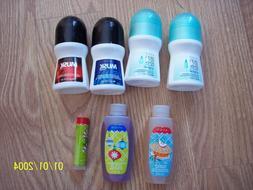 Lot of 4 Avon Deodorants, 2 bubble bath and 1 lip balm
