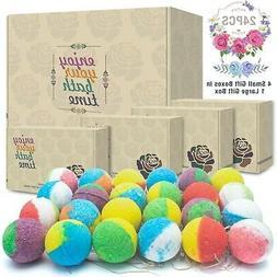 Natural Bath Bombs, Handmade Bubble Bath Bomb Gift Set, Rich