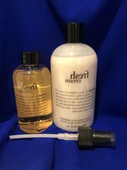 NEW Philosophy Fresh Cream Shower Gel Bubble Bath & Body Spr