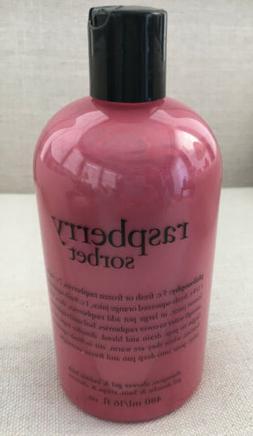 New Philosophy Raspberry Sorbet 16 oz 3-in-1 Shampoo, Shower