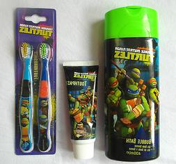 *Nickelodeon TMNT - 3pc Set - BUBBLE BATH, TOOTHBRUSHES, TOO