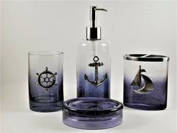 LAMONT HOME ANCHORS Ombre Bubble Glass Bathroom Accessories
