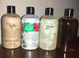 Philosophy Set Of 4 Holiday Scents 16 Oz Shampoo Shower Gel