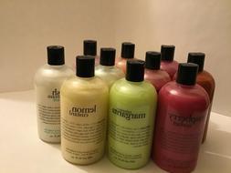 Philosophy Shampoo Shower Gel & Bubble-bath 16 OZ. NEW Seale