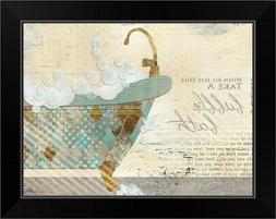 Take a Bubble Bath Black Framed Wall Art Print,  Home Decor