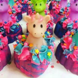 Unicorn Toy Bubble Bath Bar - handmade lush type