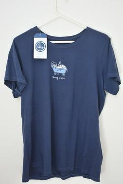 LIFE IS GOOD Vintage Crusher Bubble Bath S/S Tee NWT XL